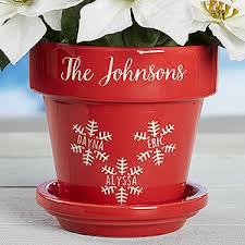personalized flower pot personalized flower pots snowflake family