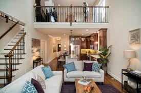 open floor plan with 2nd floor balcony at bolton model