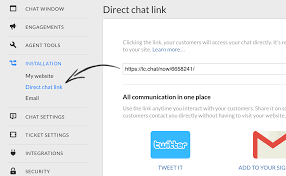 direct chat link livechat knowledge base
