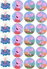 George Pig Cake Decorations Peppa Pig Cupcake Toppers Peppa Pig Pinterest Pig Cupcakes