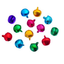 housweety 500pcs 8x6mm coloured jingle bells christmas bells