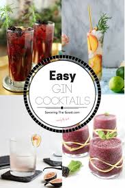 cocktail recipes easy gin cocktail recipes you need in your life