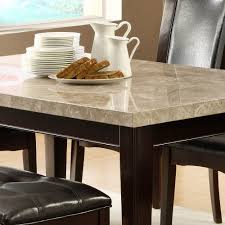 homelegance hahn 6 piece marble top dining room set in espresso