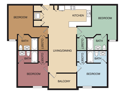 four bedroom floor plans 4 bedroom apartment floor plan the palms on