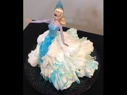 Cake Decorating Figures How To Make Elsa Doll Cake Frozen Cake Decorating Youtube Cake Deco