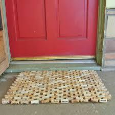 tappeto con tappi di sughero zerbino di sughero vino 20 x 30