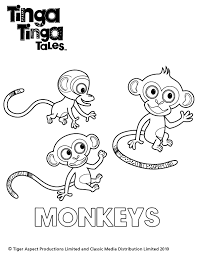 tinga tinga monkey colouring scholastic kids u0027 club