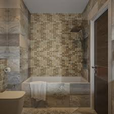 wonderful simple bathroom design ideas come with cream brick wall