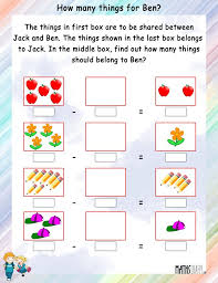 math subtraction worksheets 1st grade addition for 1 first mental