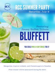 Jimmy Buffet Casino by Rcc Summer Party Featuring Jimmy Buffet Tribute Bluffett