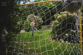 soccer goals stock photos offset