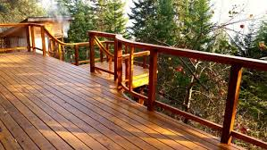 reclaimed western red cedar deck and sauna fastenless joinery