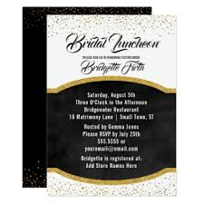 bridal luncheon gifts bridal luncheon black gold glitter bridal shower card gold