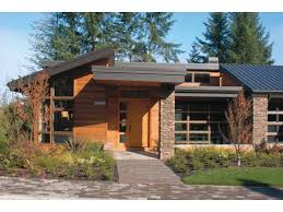 Hillside Cabin Plans Contemporary Modern House Plan With 4600 Square Feet And 4