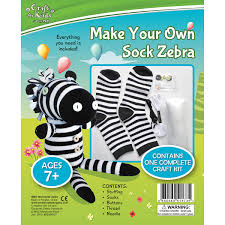 make your own sock zebra by craft for kids u2013 daves deals