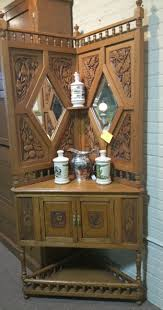 Antique Corner Desk by Ornate Oak Corner Cabinet 695 00 Booth 44 Reliance Antiques
