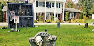 chester resident creates haunted house for charity chesterland news