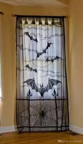 Lace Curtains 2017 Halloween Lace Decor Jacquard Knitted Rose Lace Curtains With