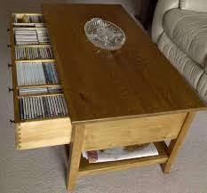 Coffee Table With Dvd Storage Displaying Gallery Of Cd Storage Coffee Tables View 8 Of 20 Photos