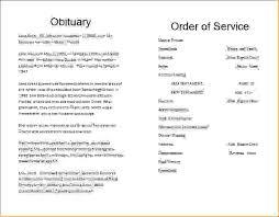memorial program templates 7 funeral order of service templateagenda template sle agenda
