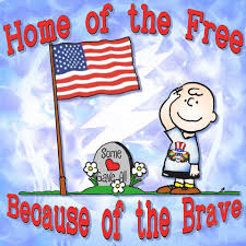 Snoopy Flags Home Of The Free Because Of The Brave Some Gave All Charlie
