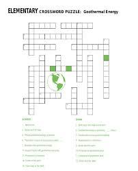 geothermal energy crossword puzzle 6th 8th grade worksheet