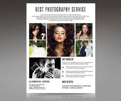 photography flyer template professional photographer promotional