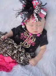 monogram headband black leopard hot pink personalized monogram onesie