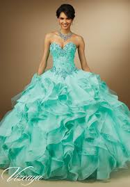 aqua green quinceanera dresses organza skirt quinceanera dress style 89056 morilee