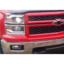 silverado projector headlight black with led daytime running