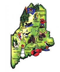 Maine State Flag Maine Magnets Classic State Refrigerator Magnets