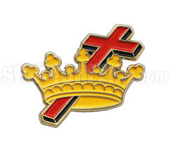knights templar 1 cross and crown fraternal house lapel pin