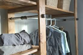 diy closet systems ana white industrial style wood slat closet system with galvanized