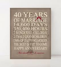 40 year anniversary gift ideas best 25 40 year anniversary gift ideas on diy 40th