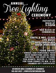 christmas tree lighting near me christmas tree lighting visit atchison