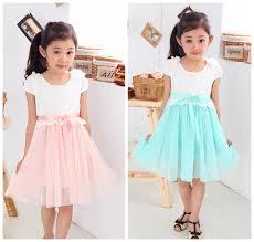 selling 2014 summer girls short sleeves patchwork dresses 3 8