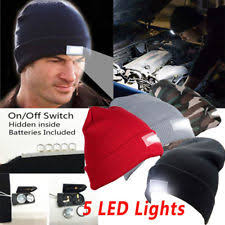 Knit Cap With Led Light Hunting Cap Ebay
