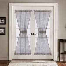Crushed Voile Sheer Curtains by Furniture Decorative Sheer Curtains For French Doors Crushed
