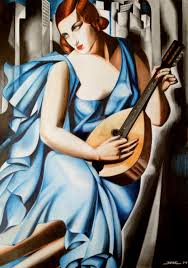tamara de lempicka blue woman with a guitar by krzysiek jac on