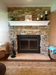 refacing brick fireplace with glass stone refacing fireplace