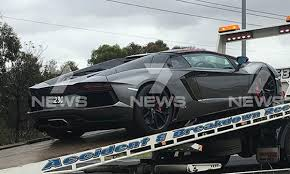 fatal lamborghini crash lamborghini breaks down on calder freeway