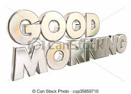 good morning 3d words welcome introduction clipart search
