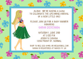 hawaiian luau mommy to be baby shower invitations maternity