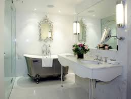 modern small white country bathroom image of paint color concept