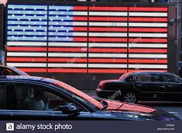 Blue White And Black Flag Red White And Blue Neon Us Flag Outside The Times Square Armed
