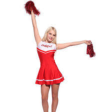 Womens Cheerleader Halloween Costume Womens Cheerleader Ebay