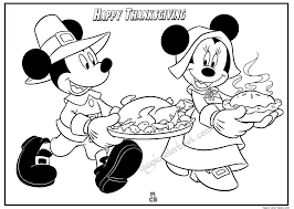 thanksgiving free disney printable color page
