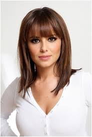 straight medium hairstyles with blunt bangs easy haircuts