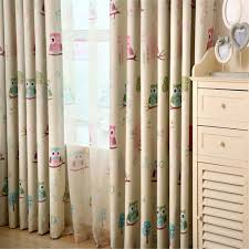 Owl Drapes Drapes For Bedroom Windows Solid Twill Window Shade Thick Blackout