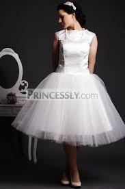 cap sleeves jewel neck layered pleats ball gown tea length satin